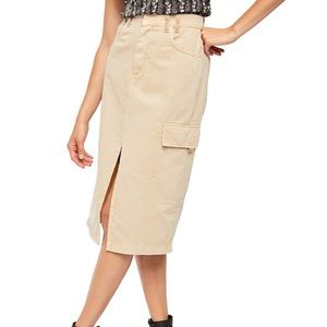 🌈NWT We the Free Sand Scout Midi skirt size 30
